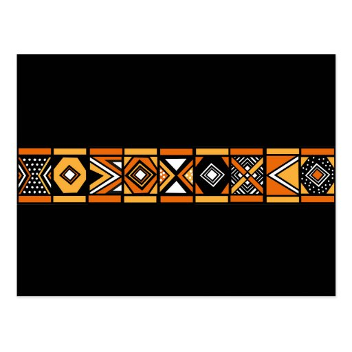 African pattern postcard