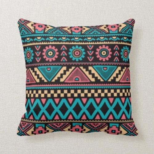 African Pattern Print Design Throw Pillow