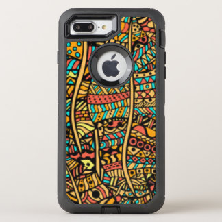 African Pattern Print OtterBox Defender iPhone 7 Plus Case
