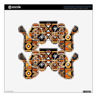 African pattern PS3 controller decal