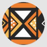 African pattern round sticker