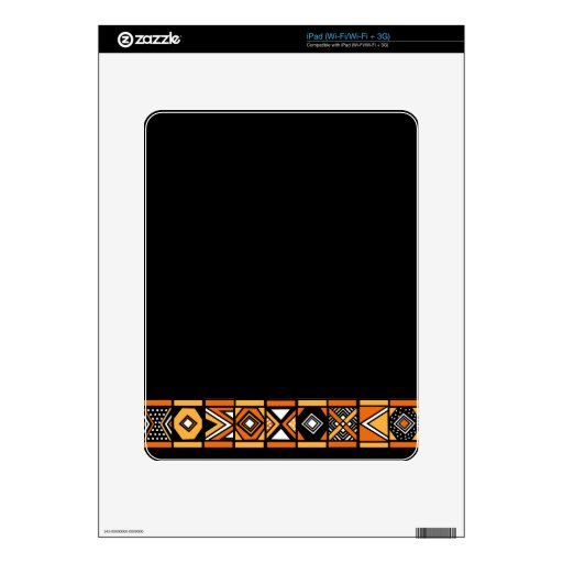 African pattern skins for iPad