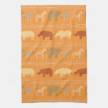 African pattern towels