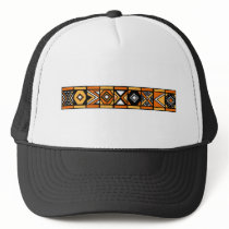 African pattern trucker hat