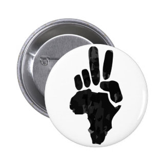 African Peace Pinback Button