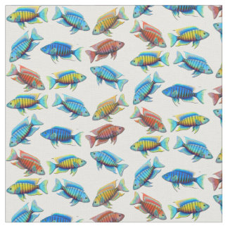 African Peacock Cichlid Tropical Fish Fabric