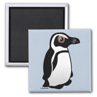 African Penguin 2 Inch Square Magnet