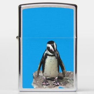 African Penguin Black and White Bird Zippo Lighter