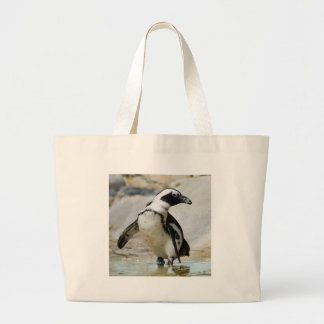 African penguin large tote bag