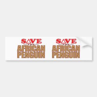 African Penguin Save Bumper Sticker
