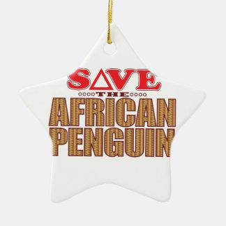 African Penguin Save Ceramic Ornament