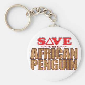 African Penguin Save Keychain
