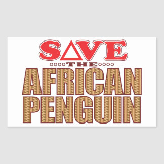 African Penguin Save Rectangular Sticker