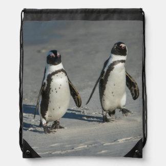 African penguin (Spheniscus demersus)2 Drawstring Bag
