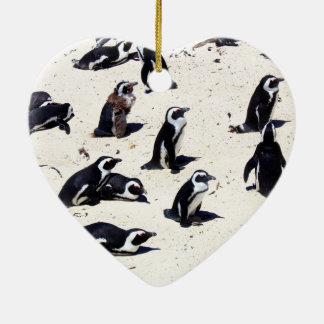 African Penguins on Boulders Beach Ceramic Ornament