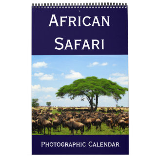 african photographic safari 2018 calendar