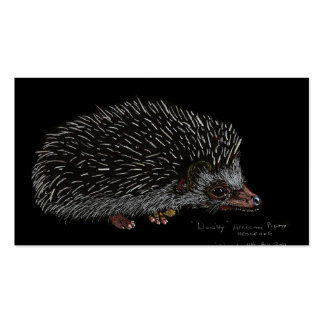 AFRICAN PIGMY HEDGEHOG Double-Sided STANDARD BUSINESS CARDS (Pack OF 100)