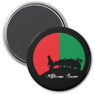AFRICAN PIONEER 3 INCH ROUND MAGNET