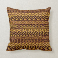 African pixels throw pillow