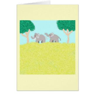 African Plain Greeting Card