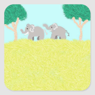 African Plains Square Sticker
