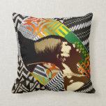 African Pop Art Throw Pillows