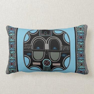 African Pop (Lumbar Support) Throw Pillows