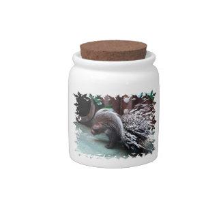 African Porcupine Candy Jar