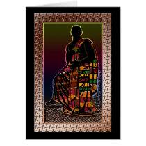 African Praying Man Card