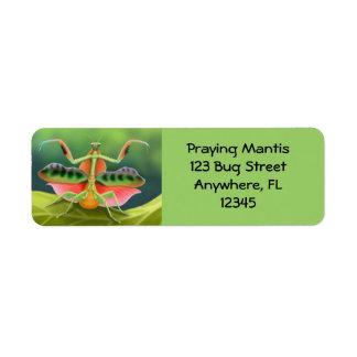 African Praying Mantis Label