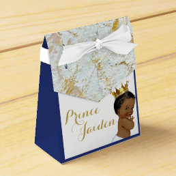 African Prince Royal Baby Shower FANCY Tent Favors Favor Box