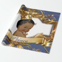 African Prince Royal Baby Shower Gift Wrapping Wrapping Paper