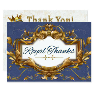 African Prince Royal Baby Shower Thank You Card