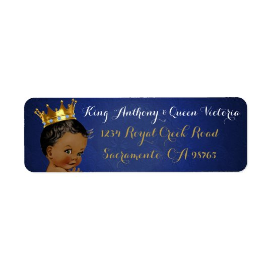 african prince royal blue gold mailing labels zazzle com