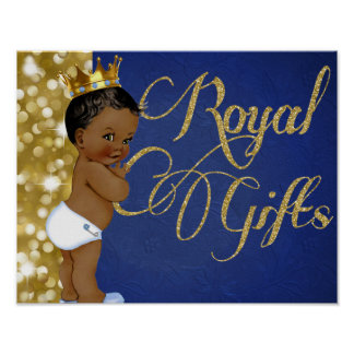 African Prince Royal Gifts Poster Sign