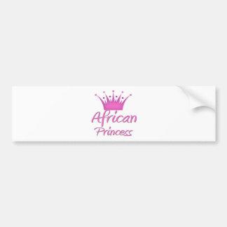 African Princess Bumper Sticker