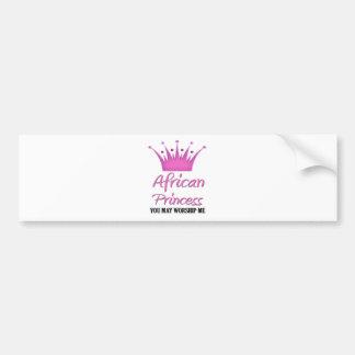 African Princess Bumper Stickers
