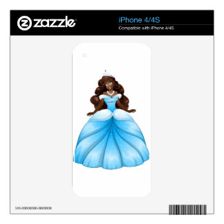 African Princess In Blue Dress Skin For The iPhone 4