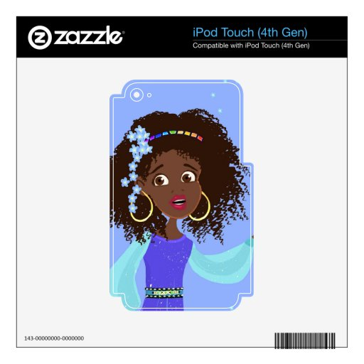 African Princess Portrait iPod Touch Skin