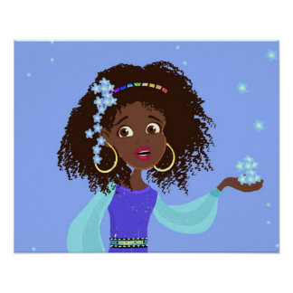 African Princess Portrait Poster