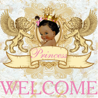 African Princess Royal Welcome Photo Statue