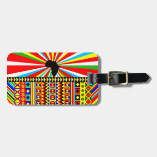 African Print Kente Cloth Tribal Pattern Ankara Bag Tag
