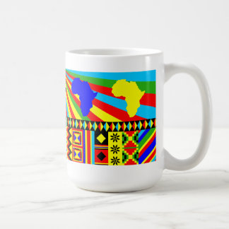 African Print Kente Cloth Tribal Pattern Ankara Coffee Mug