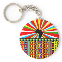 African Print Kente Cloth Tribal Pattern Ankara Keychain
