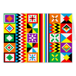 African Print Kente Cloth Tribal Pattern Card