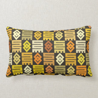 African print with meaningful Adinkra symbols Lumbar Pillow