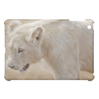 African prowling white lion case for the iPad mini