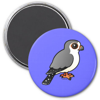 African Pygmy Falcon 3 Inch Round Magnet