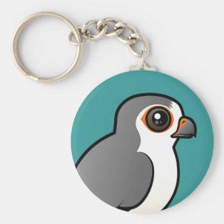 African Pygmy Falcon Basic Round Button Keychain