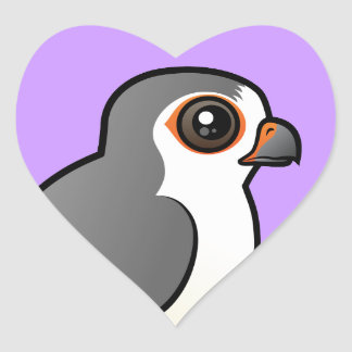 African Pygmy Falcon Heart Stickers